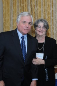 "Robert ""Bob"" Butterworth and Florida's Children First Executive Director Andrea Moore."