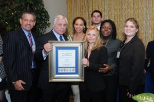 Howard Talenfeld and members of S.H.I.N.E. honor Bob Butterworth (center).