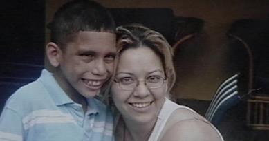 Denis Martez and mother, Martha Quesada.