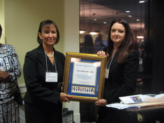 Christina Spudeas and 2009 honoree Nora Collins-Mandeville.