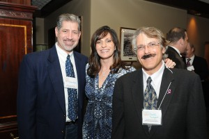 Broward Judge Andrew Siegel, FCF Board Member Julie Talenfeld, and David Singer
