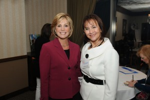 Anchorwoman Kristi Krueger and FCF Exec. Dir. Christina Spudeas