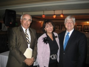 Jim Sackett, FCF Executive Director Christina Spudeas, Richard Slawson